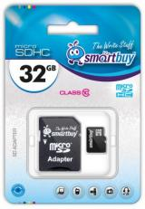 Micro SD 32Gb Smart Buy Class 10 с адаптером SD